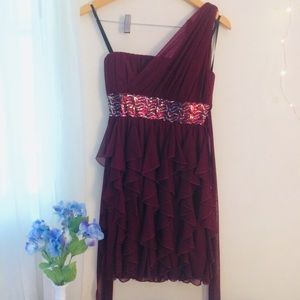 Maroon homecoming/prom dress